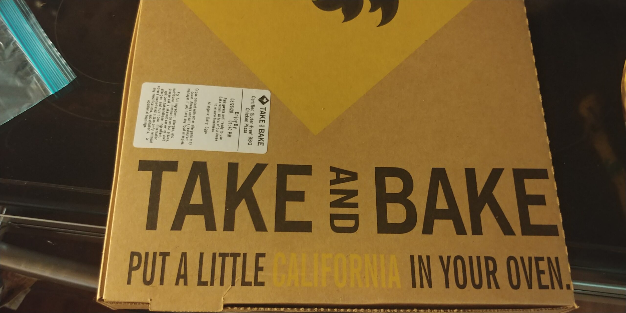Take and Bake California Pizza Kitchen