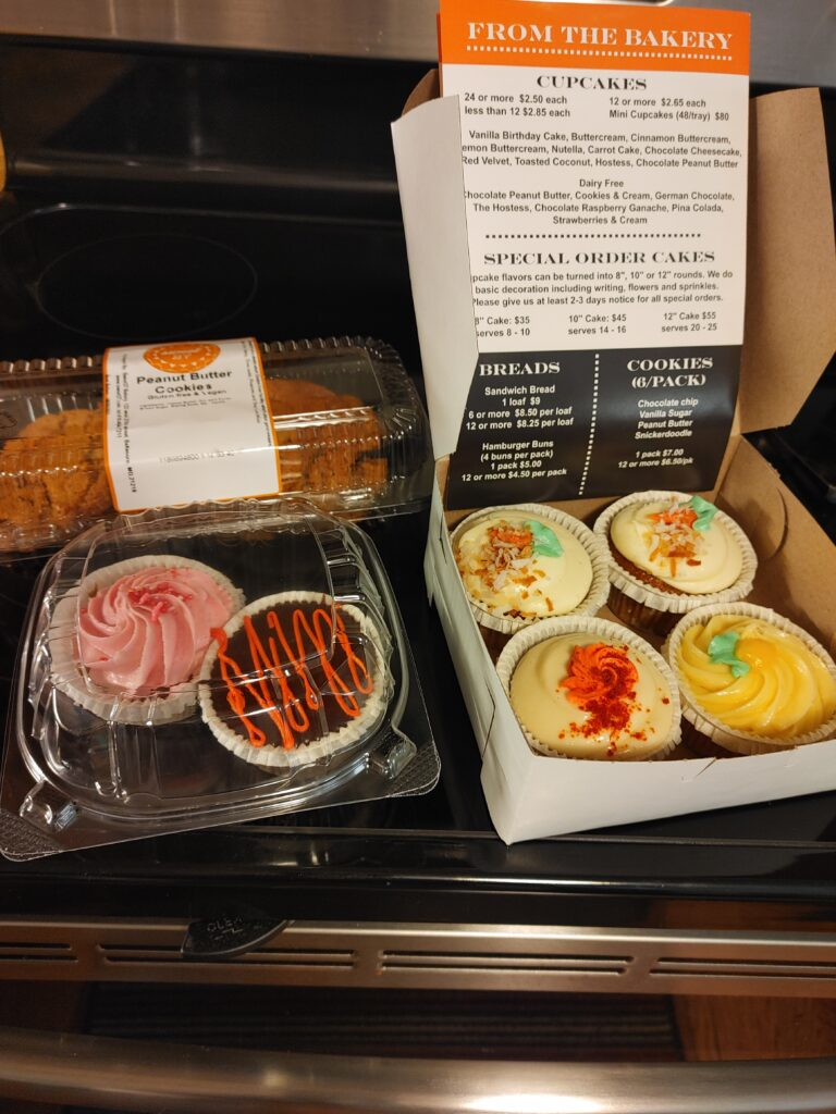 gluten free cupcakes and cookies